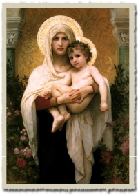 Virgin Mary with Border